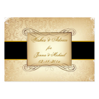 PixDezines Rossi Damask/Champagne, Advice Cards Business Card Templates