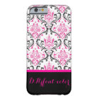 PixDezines Rossi Damask/Hot Pink+Black/DIY colour Barely There iPhone 6 Case
