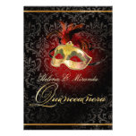 PixDezines Rossi Damask/Masquerade/DIY/Ruby Personalized Announcement
