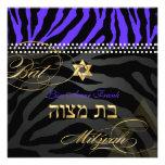 PixDezines Royal Purple Zebra Stripes, Bat Mitzvah