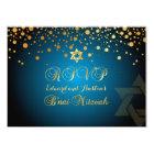 PixDezines RSVP, B'NAI MITZVAH+GOLD CONFETTI Card