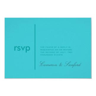 PixDezines RSVP Contemporary + classy/aqua 9 Cm X 13 Cm Invitation Card