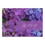PixDezines RSVP Hydrangea, blue 9 Cm X 13 Cm Invitation Card