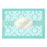 PixDezines rsvp moiré damask+Chandelier/DIY colour 9 Cm X 13 Cm Invitation Card