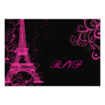 PixDezines rsvp Pink Paris/DIY background colour! Custom Announcements