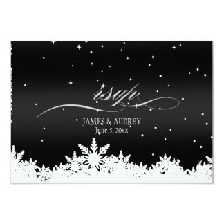 PixDezines rsvp snowflakes/diy background color 9 Cm X 13 Cm Invitation Card