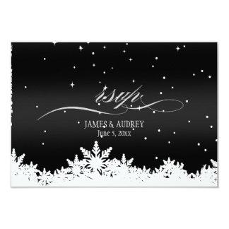 PixDezines rsvp snowflakes/diy background color Personalized Invitation