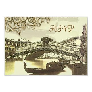PixDezines rsvp Vintage Venezia, Rialto Bridge Card