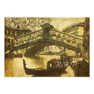 PixDezines rsvp Vintage Venezia Rialto Bridge Personalized Invites