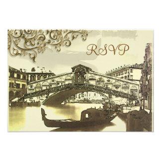 PixDezines rsvp Vintage Venezia Rialto Bridge Custom Announcement