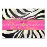 PixDezines rsvp Zebra, Bat Mitzvah/DIY 9 Cm X 13 Cm Invitation Card