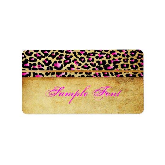 PixDezines Safari, pink cheetah Address Label