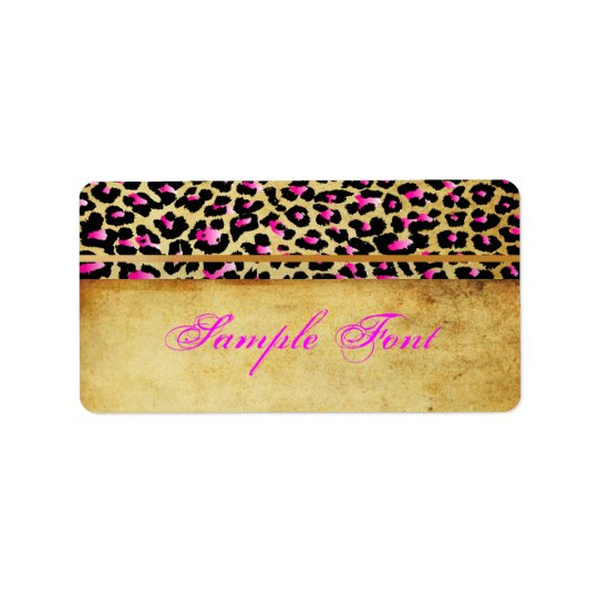 PixDezines Safari, pink cheetah Label