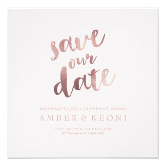 PixDezines Save Date/Rose Gold/DIY Background Card