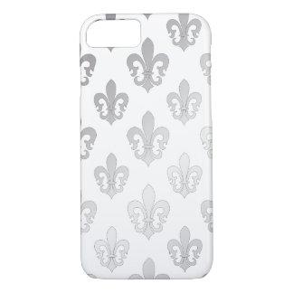 PixDezines silver fleur de lis/DIY background iPhone 7 Case
