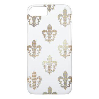 PixDezines silver gold fleur de lis/DIY background iPhone 7 Case