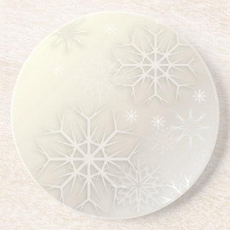 PixDezines Snowflake, Custom Background Coaster
