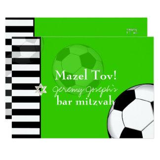 PixDezines soccer bar mitzvah/DIY color 13 Cm X 18 Cm Invitation Card