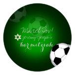 PixDezines soccer bar mitzvah/DIY colour 13 Cm X 13 Cm Square Invitation Card