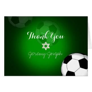 PixDezines Soccer Bar Mitzvah Thank You/DIYcolor Card