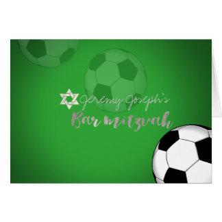 PixDezines Soccer/Photo Bar Mitzvah/DIY Color Greeting Card