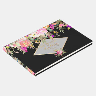 PixDezines Spring Floral Watercolor Guest Book