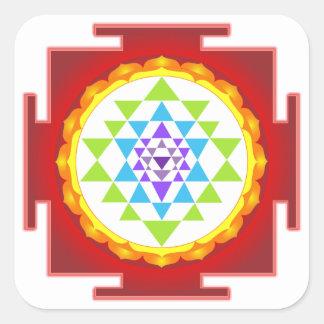 PixDezines Sri Yantra/Chakra Clearing/Focus Point Square Sticker