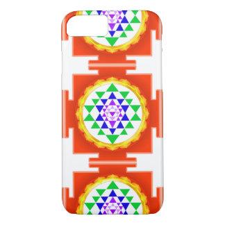 PixDezines Sri Yantra Chakra Clearing/Orange Glow iPhone 7 Case