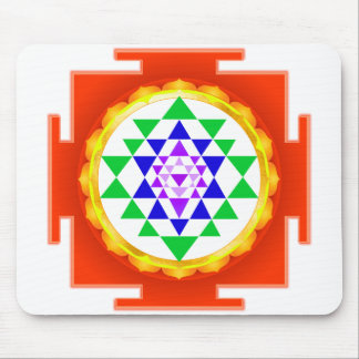 PixDezines Sri Yantra Chakra Clearing/Orange Glow Mouse Pad
