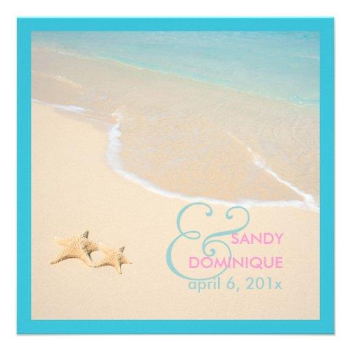 PixDezines Starfish + beach/tropical wedding Personalized Invite
