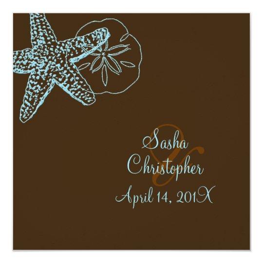 PixDezines Starfish/Beach Wedding Invitations** Card