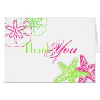PixDezines Starfish/Sanddollar Thank You cards