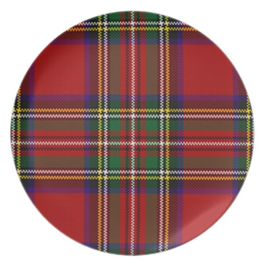 PixDezines stewart tartan Plate