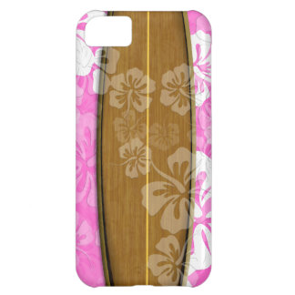 PixDezines surf board+hibiscus/diy background iPhone 5C Case