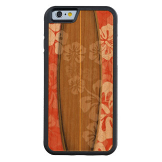 PixDezines surf board/hibiscus/DIY color Carved Cherry iPhone 6 Bumper Case
