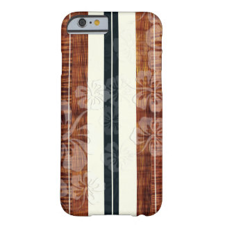 PixDezines Surf Board/Hibiscus/Faux Koa Barely There iPhone 6 Case