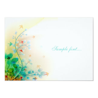 PixDezines swallows, DIY cards/add monogram 13 Cm X 18 Cm Invitation Card