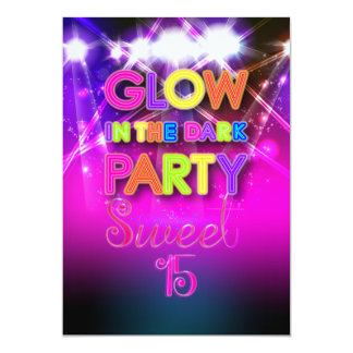 PixDezines Sweet 15, Glow in the Dark Card