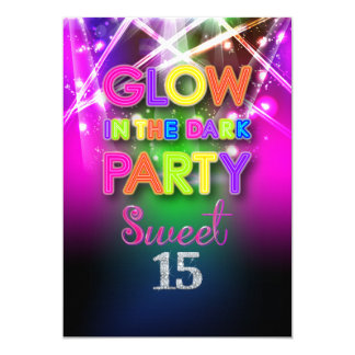 PixDezines Sweet 15, Laser Lights/Glow Party Card