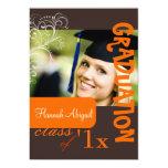 PixDezines Swirls, 2011 Graduation, Custom Colour 13 Cm X 18 Cm Invitation Card