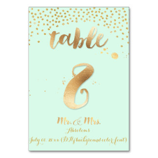 PixDezines table 8/gold sprinkles/DIY color/mint Card
