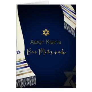 PixDezines tallit/photo bar mitzvah/DIY color Greeting Card