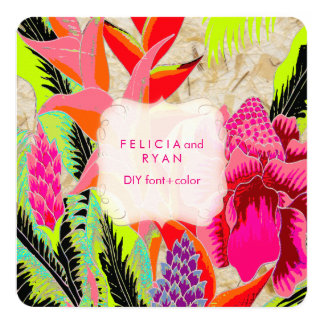 PixDezines torch ginger/heliconia/Luau Wedding Card