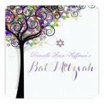 PixDezines tree of life Bat Mitzvah Custom Invite