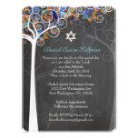 PixDezines tree of life mitzvah/chalkboard Custom Invite