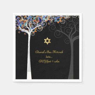 PixDezines tree of life/mitzvah Disposable Serviette