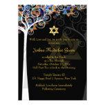 PixDezines tree of life mitzvah/metallic ice Personalized Invitations