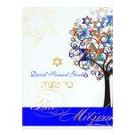 PixDezines tree of life+stars, Bar Mitzvah Personalised Invitations