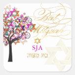 PixDezines tree of life/stars/Bat Mitzvah Square Stickers