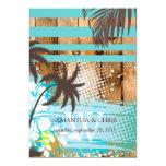PixDezines tropical grunge/beach theme/DIY colours 13 Cm X 18 Cm Invitation Card